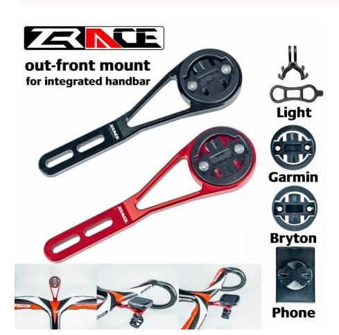 ZRACE-soporte de montaje frontal para ordenador de bicicleta, para manillar integrado, iGPSPORT, Garmin, Bryton, GoPro, foco para teléfono móvil