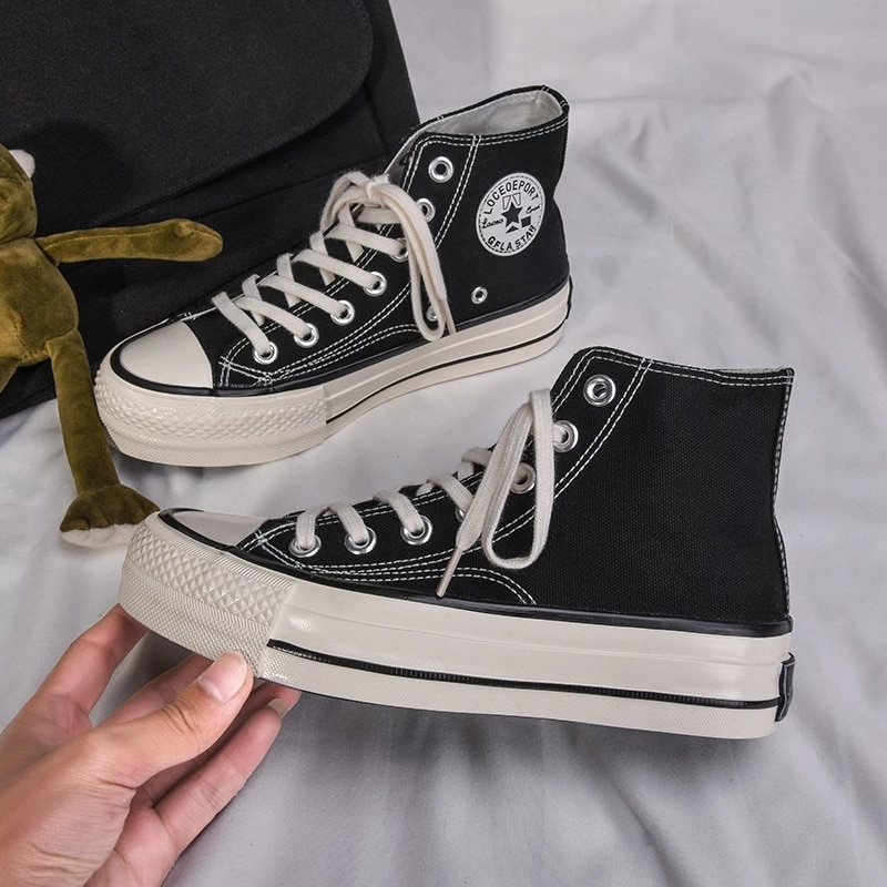 Zapatos de lona con plataforma de 4cm para mujer, zapatillas clásicas informales...