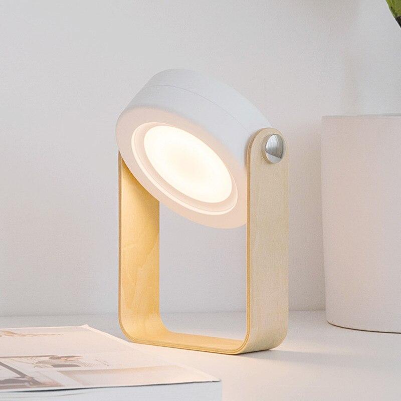 طوي اللمس عكس الضوء القراءة LED ليلة ضوء مصباح محمول مصباح USB قابلة للشحن للأطفال أطفال هدية السرير غرفة نوم