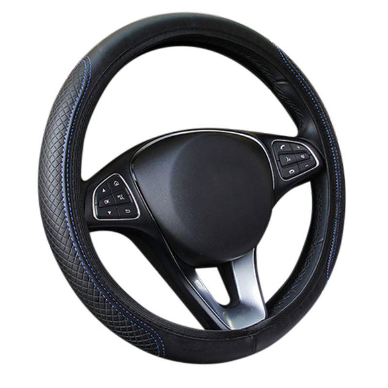 Universal Car Fiber skin Steering Wheel Cover Breathable Auto Steering- wheel Cover Anti-Slip Leather Covers Car-styling