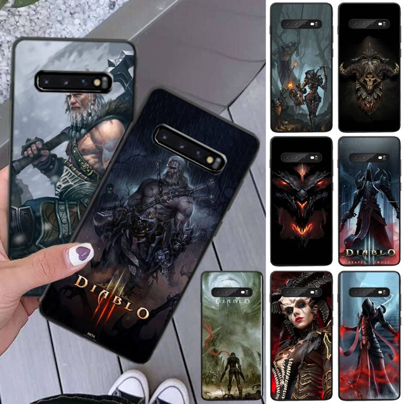 Diablo 3 jogo quente caso de telefone para samsung s8 s9 s10e s20 mais nota 20 capa