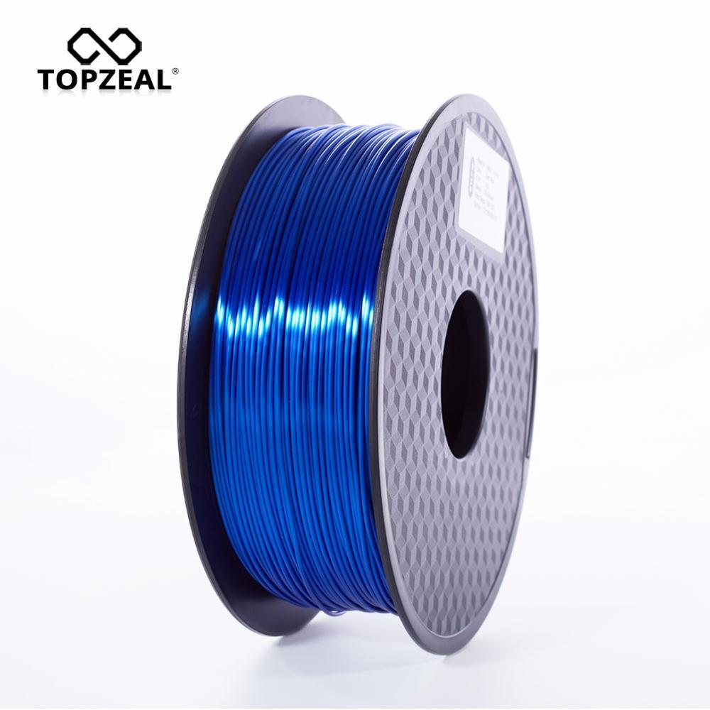 TOPZEAL alta calidad Color azul oscuro PLA seda 3D filamento de impresora 1,75mm 1KG textura de seda sensación Material de impresión 3D