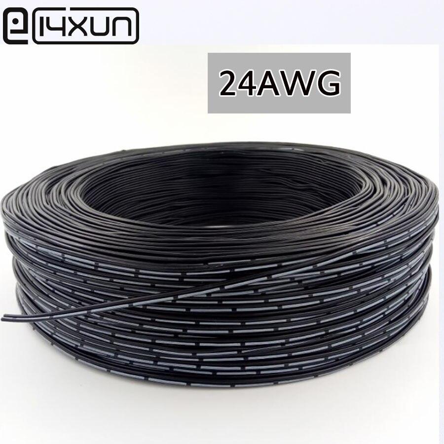 Cable de cobre Chapado en estaño de 10m línea de silicona de 24 AWG 2P 4P 5P resistente al frío cable paralelo de alta temperatura Cable de múltiples hilos cuerda