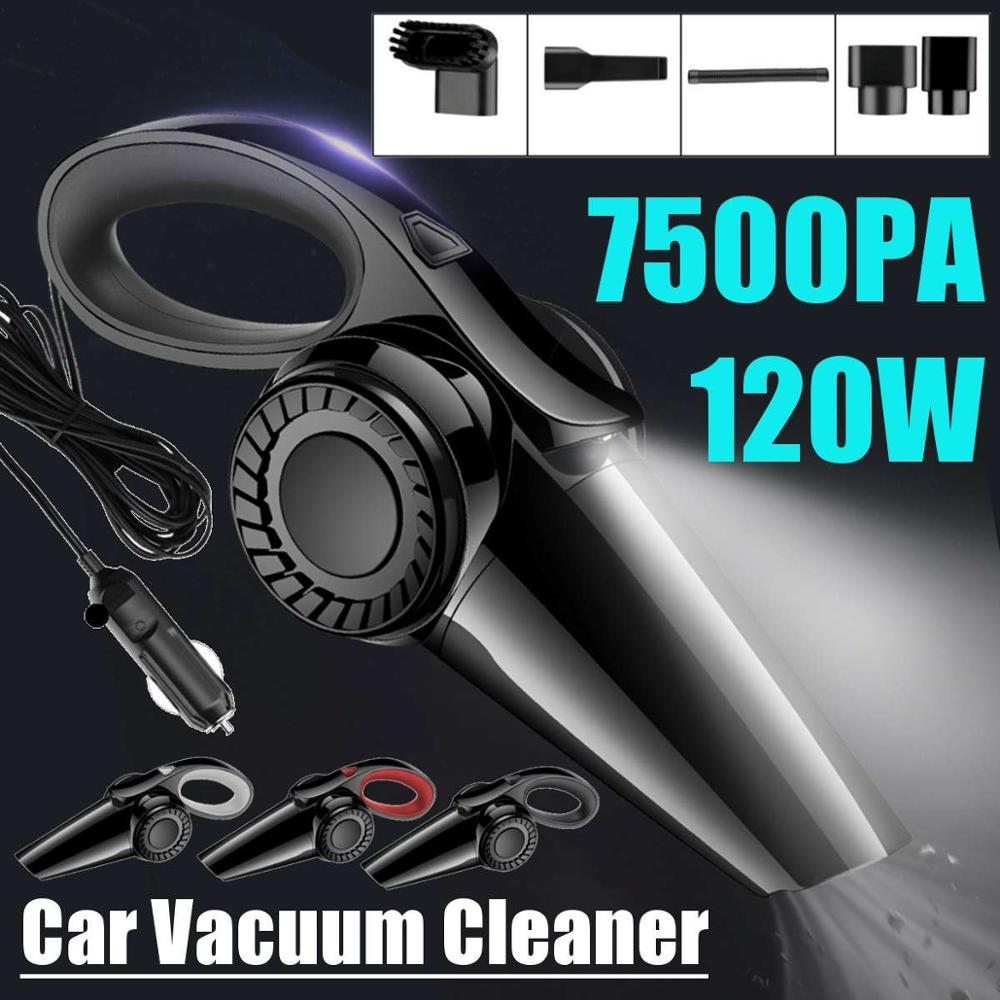 Автомобильный пылесос для сухой и влажной уборки, 120 Вт, 7500 Па