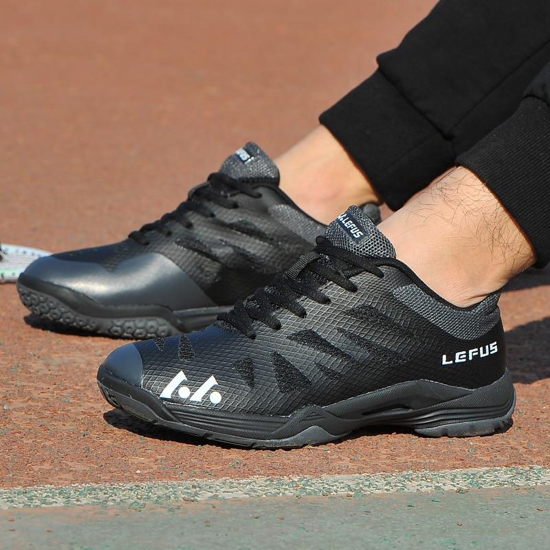 Новинка 2020, брендовая мужская обувь для бадминтона, легкая тренировочная обувь для телячьего мышечного тенниса, черные, оранжевые мужские Нескользящие кроссовки для бадминтона-3