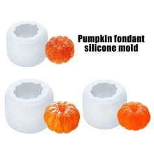 Halloween 3D Pumpkin Silicone Mould Candle Cake Decoration Fondant Mousse Handmade DIY Chocolate Mold Cake Mold