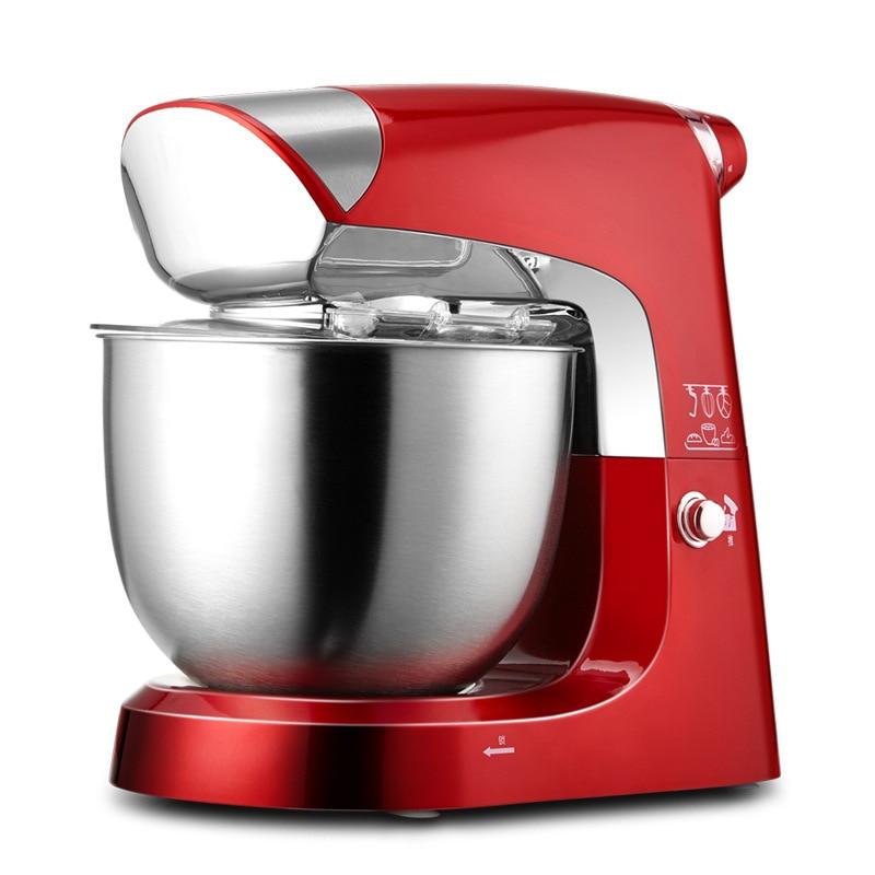 1000W 5L Dough Maker Stainless Steel Kitchen Bread Dough Mixer Multi-purpose Cooking Machine Egg Electric Mixer
