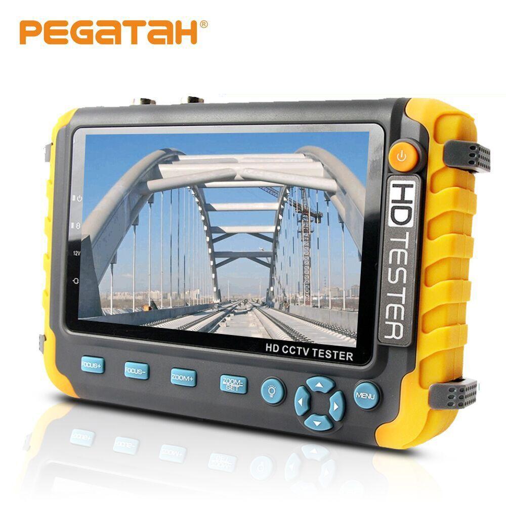 AHD CCTV tester 5 inch 1080P Portable CCTV Mini monitor camera tester AHD CVBS tester kamery HDMI VGA  input  R485 video tester