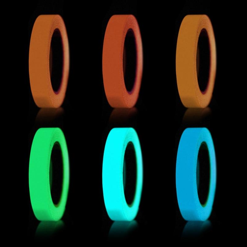 Cinta de luz reflectante de 1M cinta de papel autoadhesiva cinta de luz extraíble luz fluorescente ojo oscuro- la captura de advertencia grifo