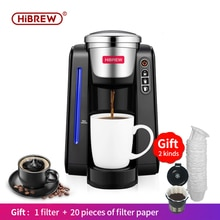 HiBREW filter Coffee Machine K-Cup brewer, Kcup Single Cup Coffee Maker Capsule Coffee Machine  Automatic Coffee Maker powder