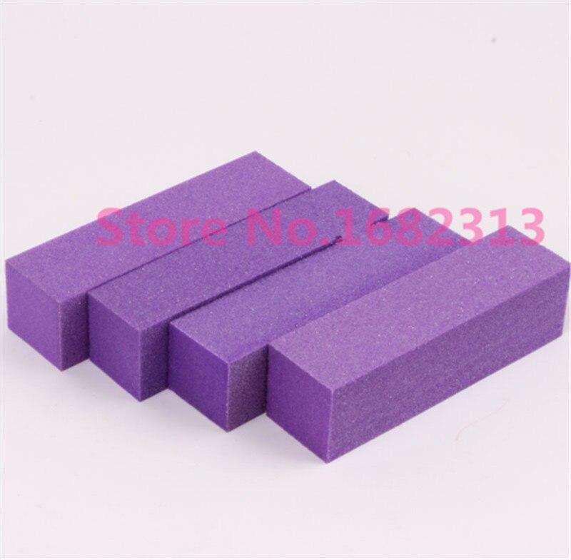 10 stücke lila 23*23mm Buffer Polieren Schleifen Dateien Blockieren Acryl Nail art Tipps Maniküre Werkzeug großhandel Heißer verkauf
