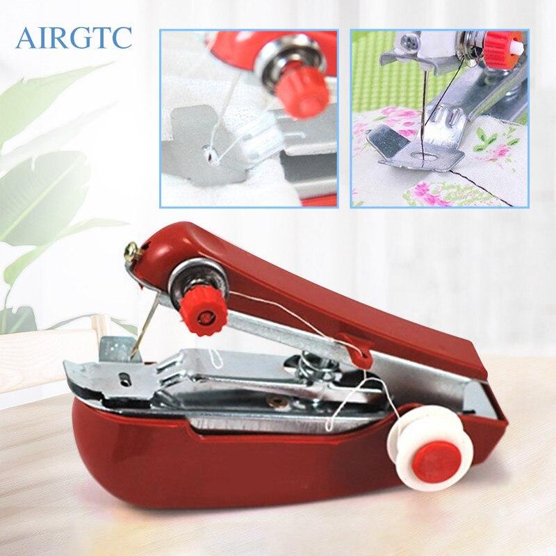 Pequeña máquina de coser Manual, Manual, portátil, para hogar, viaje, bordado