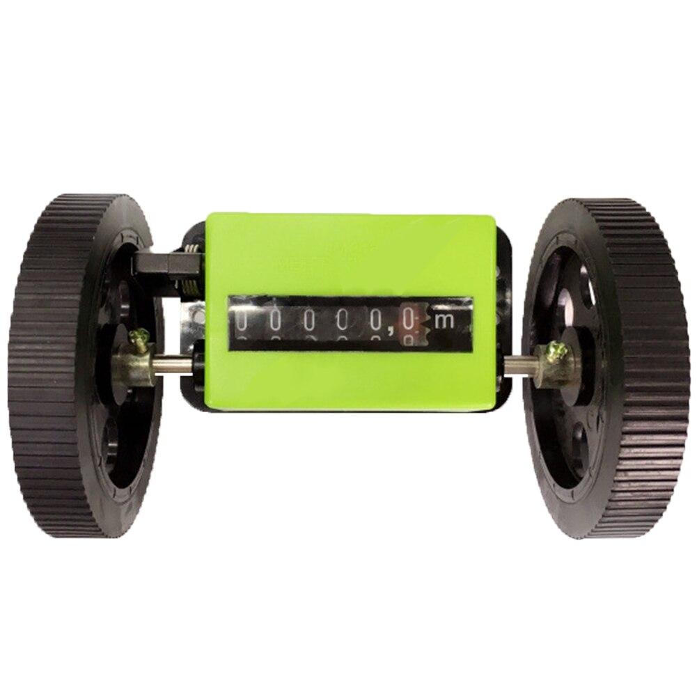 Longitud de la rueda de rodamiento mecánico portátil correcto contador textil Durable Metro