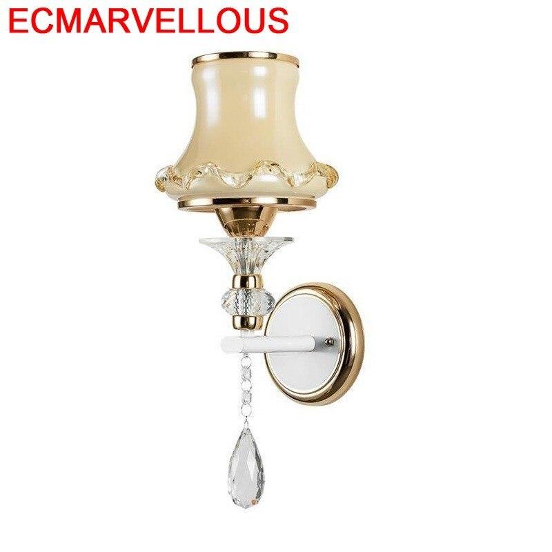 Mural Applique Lampe Murale Loft Decor Bathroom Deco Wandlampe Crystal For Home Bedroom Light Wandlamp Luminaire Wall Lamp