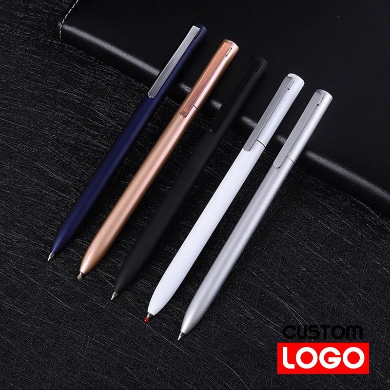Металлическая шариковая ручка для бизнеса, офиса, с логотипом на заказ, гравировкой текста, вращающаяся Шариковая ручка для бизнеса, ручка д...