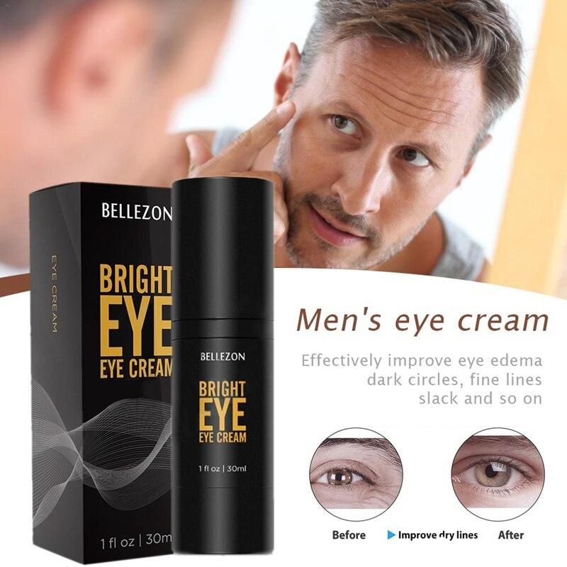 Crema de ojos para hombres cremas esenciales día noche antiarrugas eliminar las ojeras bolsas reducir las líneas finas hidratante cuidado de los ojos 30ml