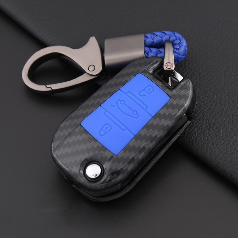 301 para Peugeot 308 308S 408 2008 3008 4008 5008 soporte de estilismo para automóvil, funda de silicona de fibra de carbono de alta calidad para la llave del coche, cubierta completa