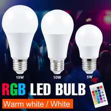 RGBWW Color Changing Lamp LED Spotlight E27 RGB Smart Control Dimmable Bulb 5W 10W 15W Spot Light LED RGBW Party Lampada SMD5050