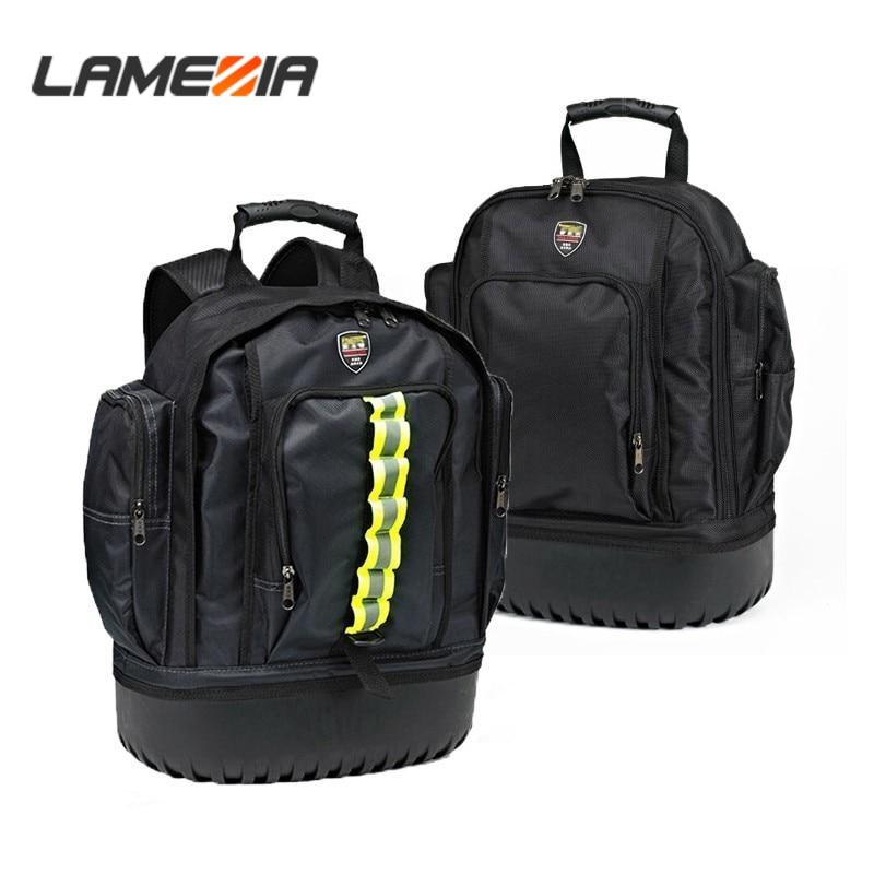 LAMEZIA High Quality Grade Oxford Cloth Canvas Shoulder Tool Bag Storage Organizer Hardware Kit Toolkit