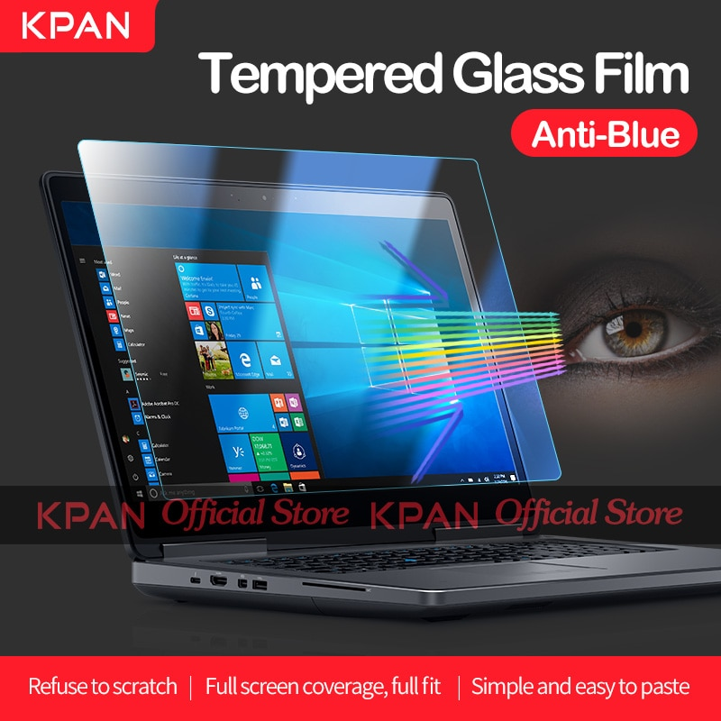 KPAN Anti-blue Light Universal Laptop Screen Protector 12 13 14 15 17 inch Tempered Glass Film For Dell HP Xiaomi Lenovo