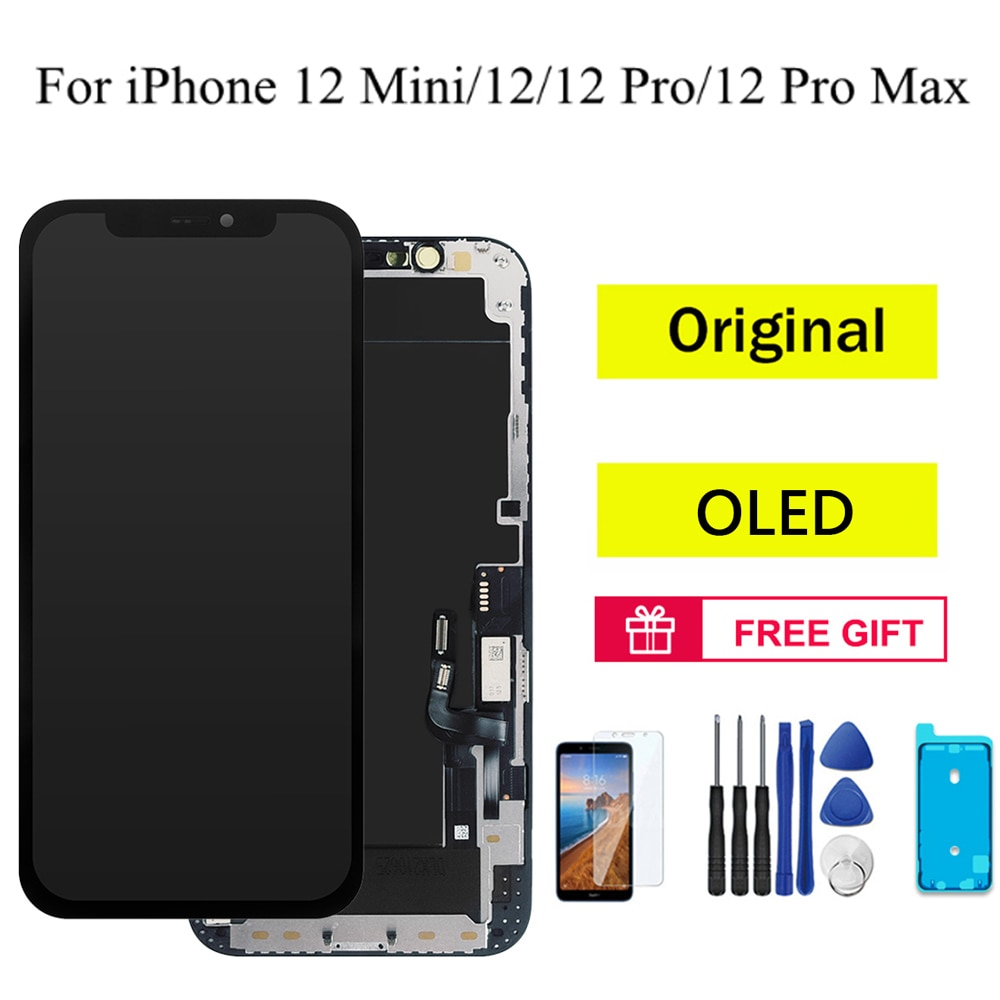 Original OLED LCD Display For iPhone 12 Pro Max LCD Touch Screen Display for iphone X XS 12 Mini 11 12 Pro Digitizer Replacement screen for iphone x oled 11 pro with 3d touch digitizer assembly lcd screen replacement display for iphonex 11 pro lcd with gift