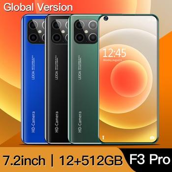 Téléphone portable F3 Pro 5G, écran de 512 pouces, Smartphone, mémoire de 12GB et 7.2 GB, MTK 6899, caméra de 16mp et 32mp, 4G, réseau Android