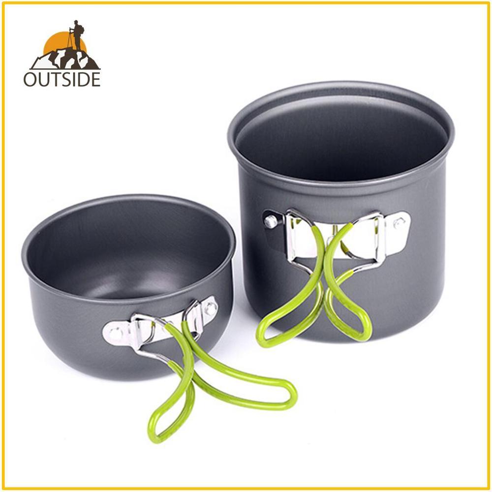 Сверхлегкая посуда для кемпинга, посуда, набор посуды для отдыха на природе, походы, пикник, альпинизм, посуда для кемпинга, кастрюля, сковор...