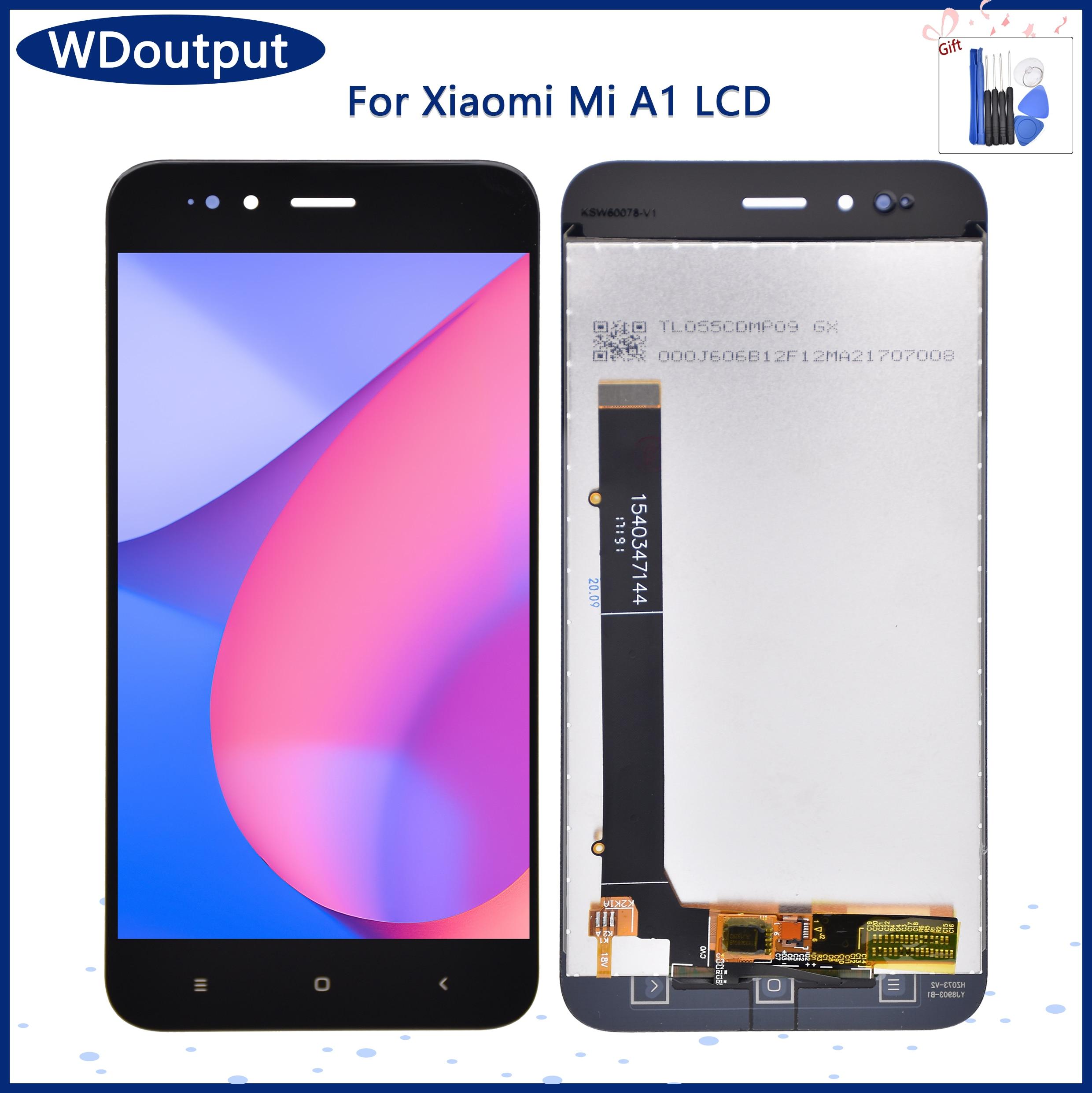 الأصلي 5.5 ''LCD عرض استبدال ل شاومي Mi A1 LCD تعمل باللمس محول الأرقام الجمعية ل شاومي MI 5X LCD عرض الشاشة