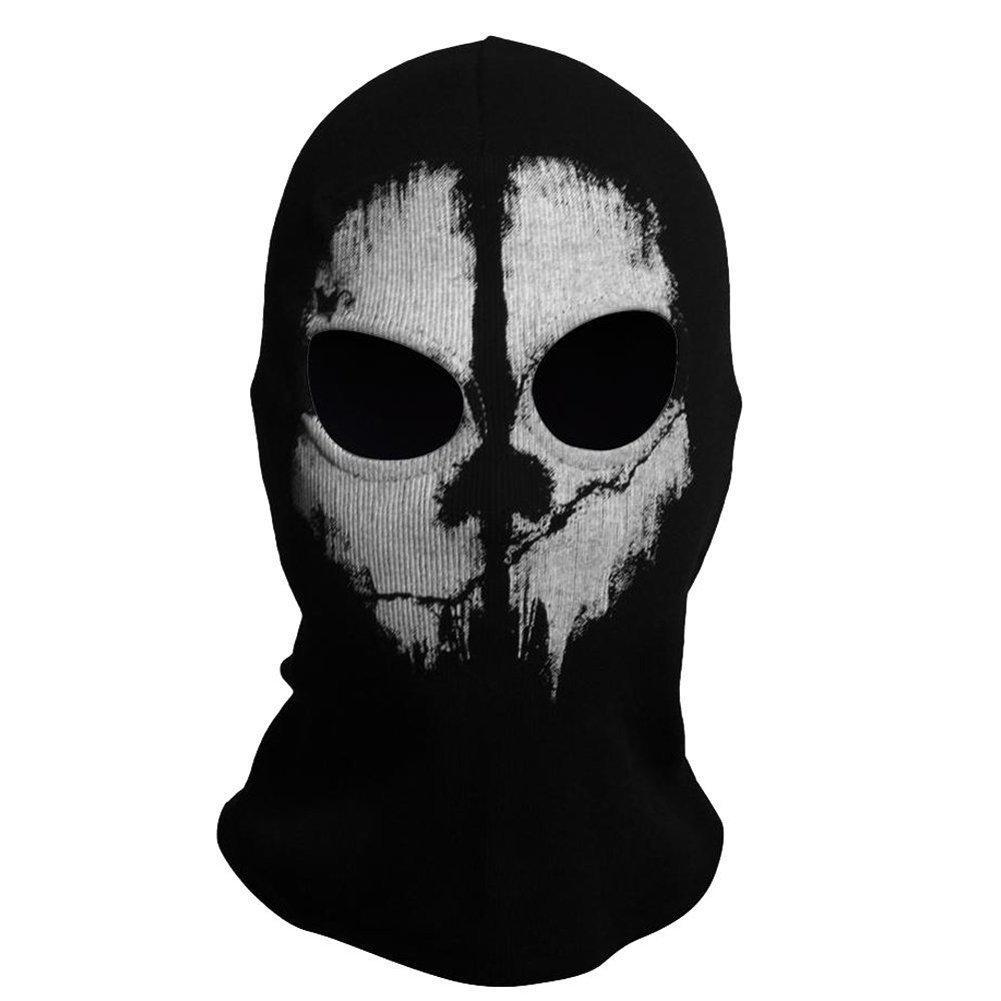Pasamontañas Unisex, máscara de calavera fantasma para Call Of Duty Biker, Halloween,...