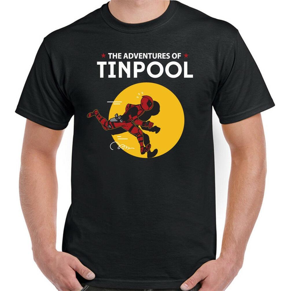 Camiseta Deadpool Tintin The Adventures Of Tinpool para hombre, divertida parodia, ropa deportiva, camiseta activa