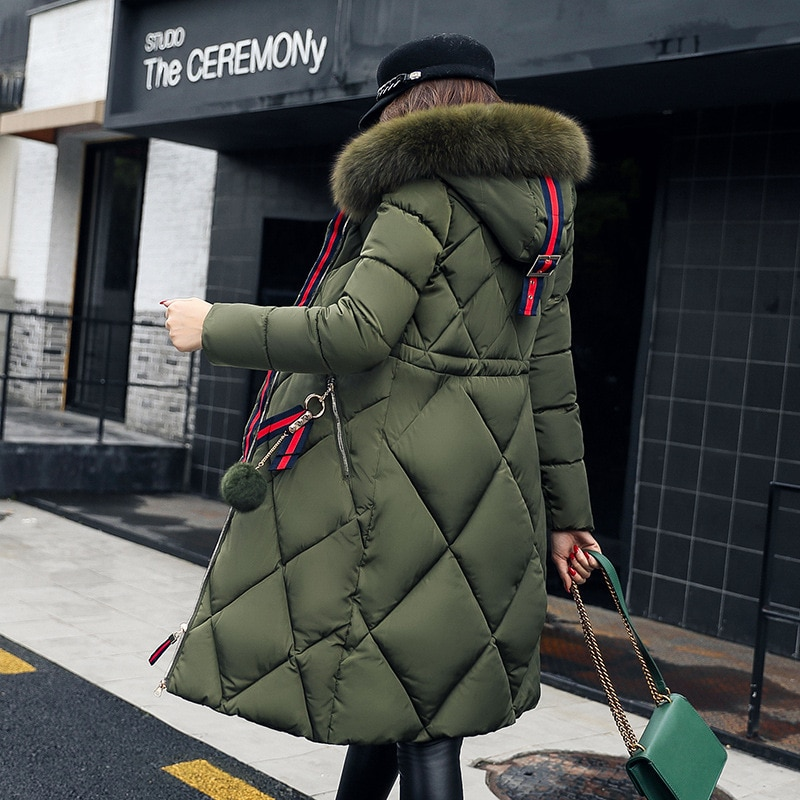 معطف نسائي خريف وشتاء 2020 ، ملابس كبيرة ، ياقة فرو ، معطف قطني ، جاكيت نسائي ، سترة كورية عتيقة ، مقاس كبير ZT4704