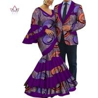 2pcs set african dresses for women bazin riche women party dress mens blazer men casual tops couple lover wedding clothes wyq813