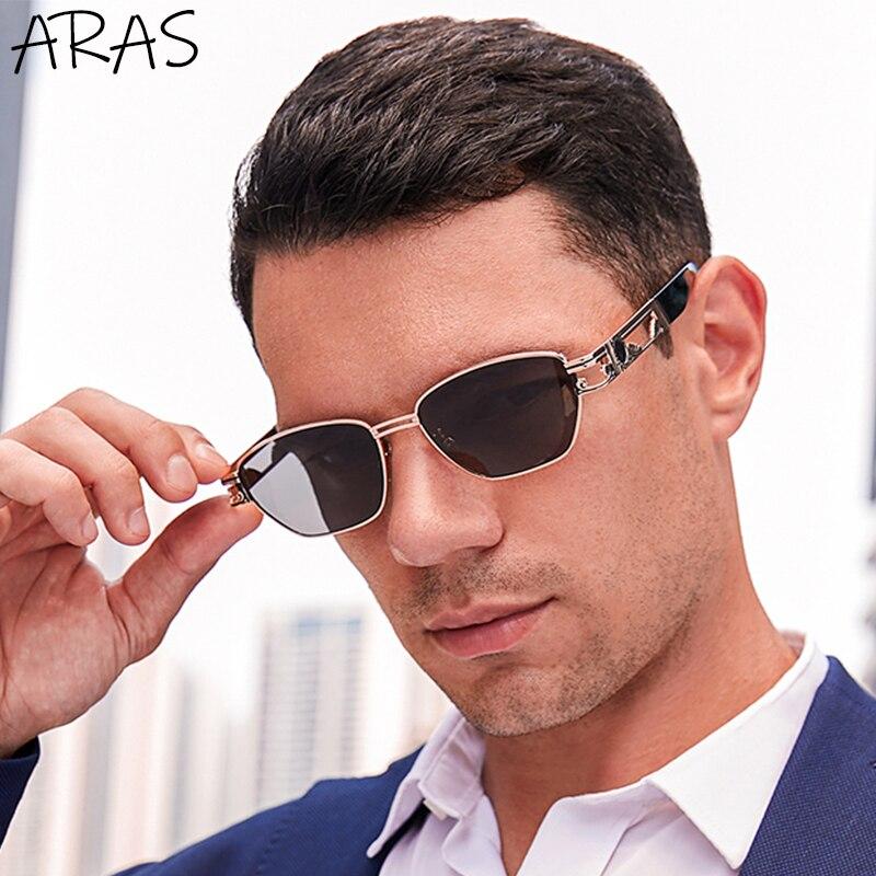Солнцезащитные очки в стиле ретро стимпанк, мужские маленькие квадратные солнцезащитные очки в оправе, мужские роскошные брендовые дизайн...