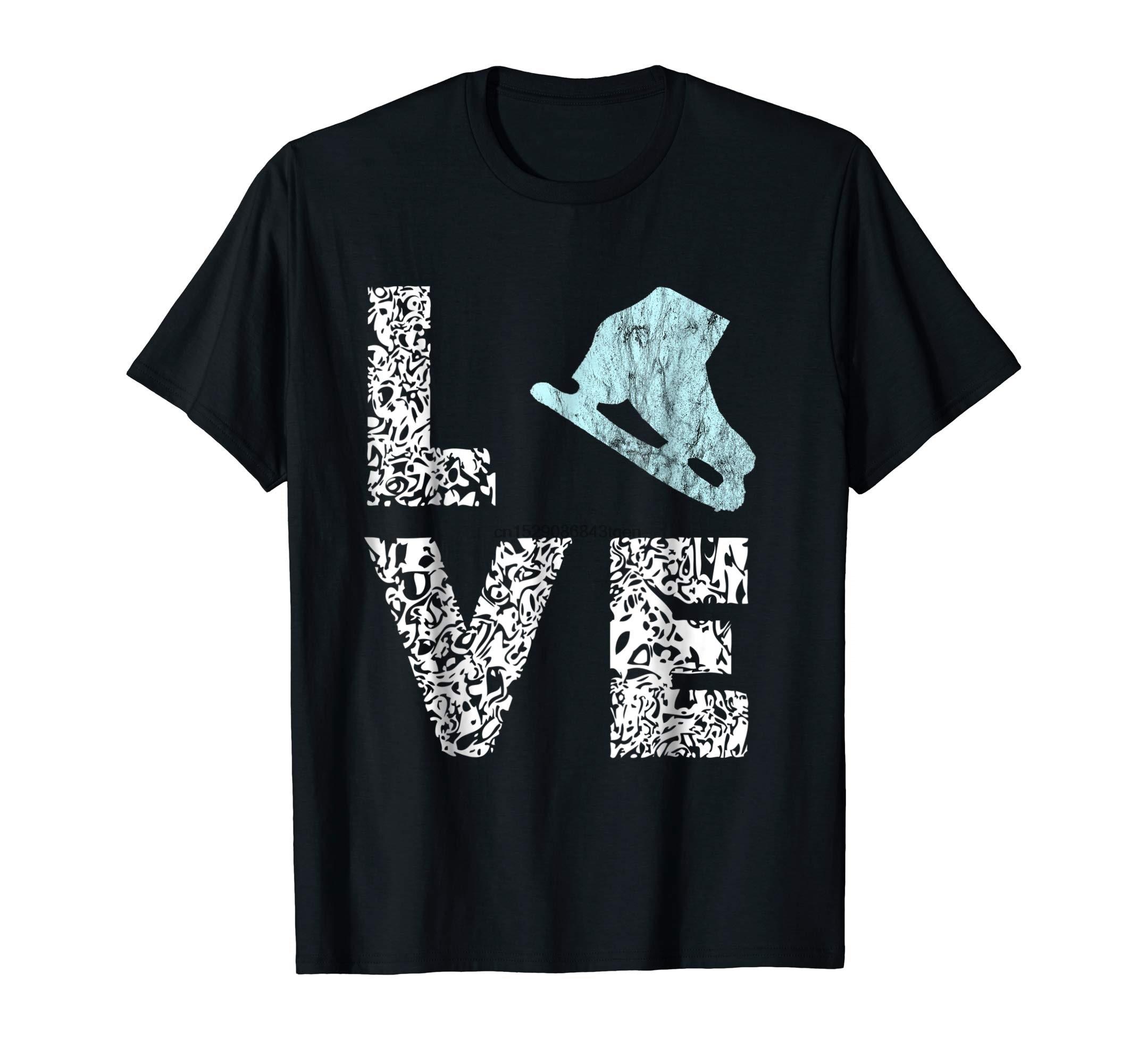 Zapatos de patinaje sobre hielo patinaje artístico patinaje sobre hielo camisetas regalos-Camiseta de los hombres-Negro