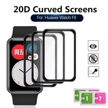 20D Curved Edge Screen protector Glass For Huawei Watch Fit Smart Watch Protective Tempered Glass Fi