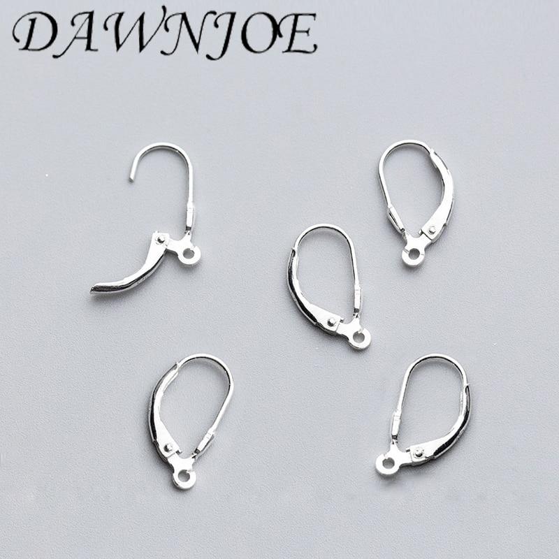 17.5*9mm s925 brincos de prata esterlina ganchos fecho brincos clipes diy brincos acessórios jóias supplie encontrar