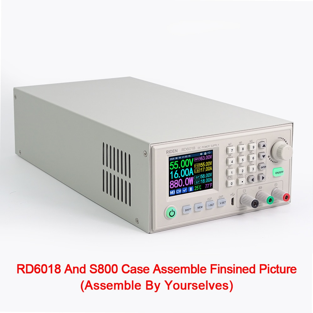 S800 Digital Powersupply Outcase Voltmeter Housing Suitable For RD6012/RD6012W/RD6018/RD6018W:With WiFi And Without WiFi enlarge