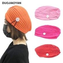DUOJIAOYAN New custom sports hair cap button loose hair band color hat European and American fashion headdress
