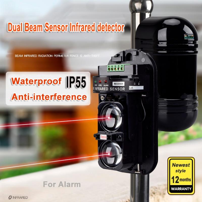 External Positioning Alarm Detector Infrared Beam Sensor Barrier For Gates Doors Windows Protection Against Hacking System