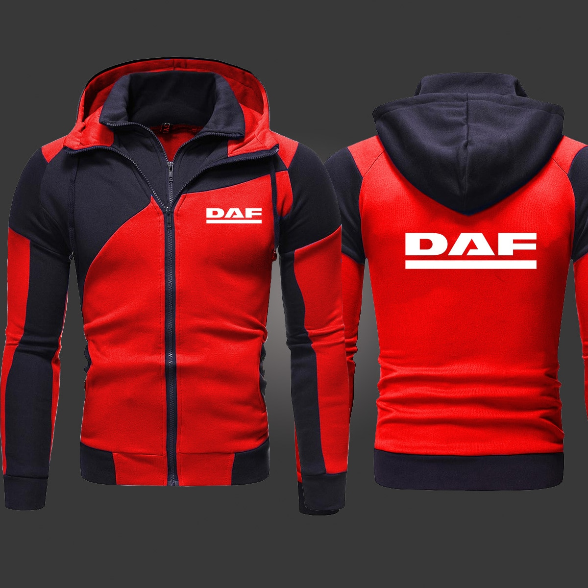 2021 New DAF Mens Fashion Outwear Jacket Zipper Hooded Hoody Harajuku Athletic Wear Casual Hoodies S-3XL  - buy with discount