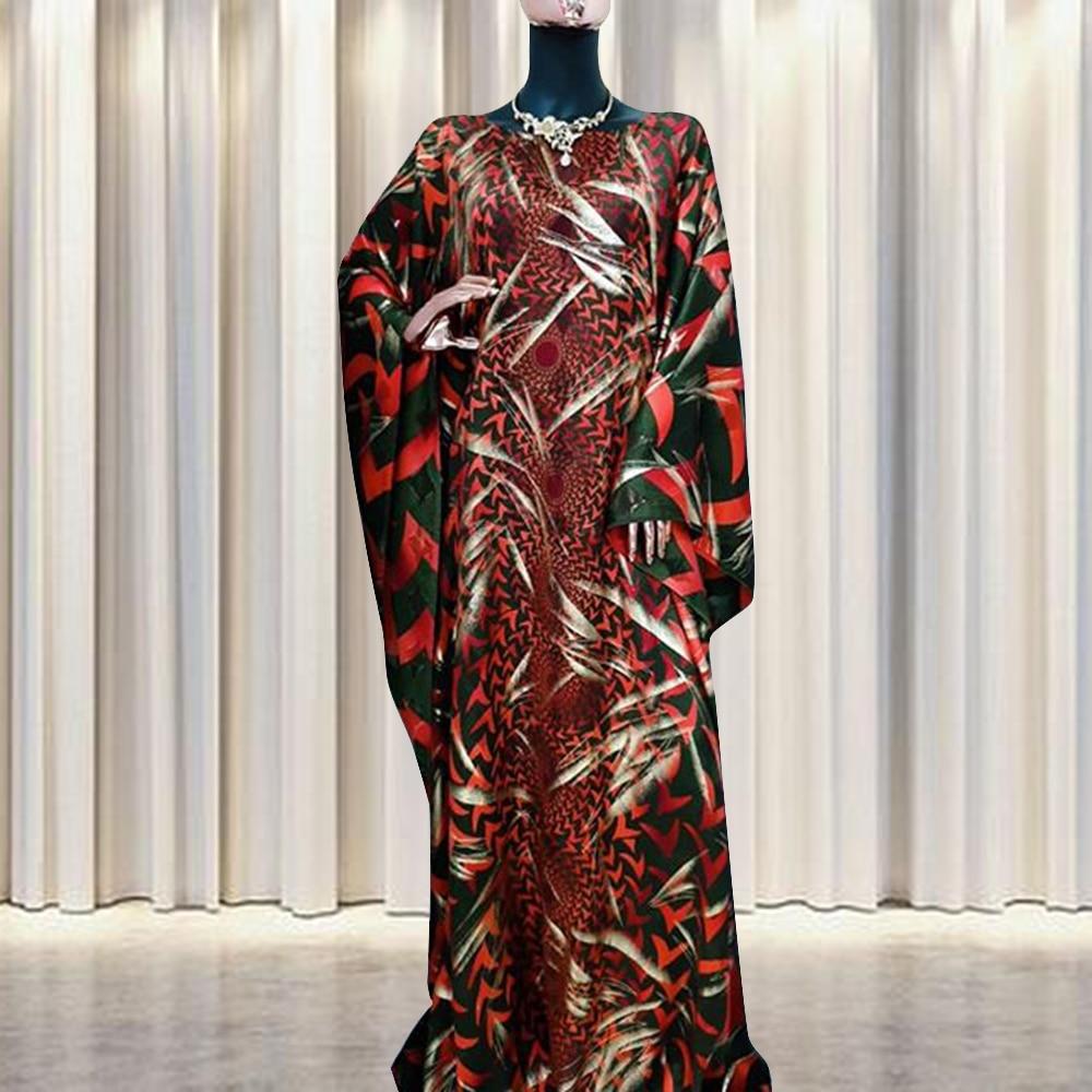 مجموعات إسلامية تصميم أفريقي فضفاض رداء السهام نمط الطباعة عباية دبي فستان سيدة حفلة ملابس أوروبية ملابس أمريكية