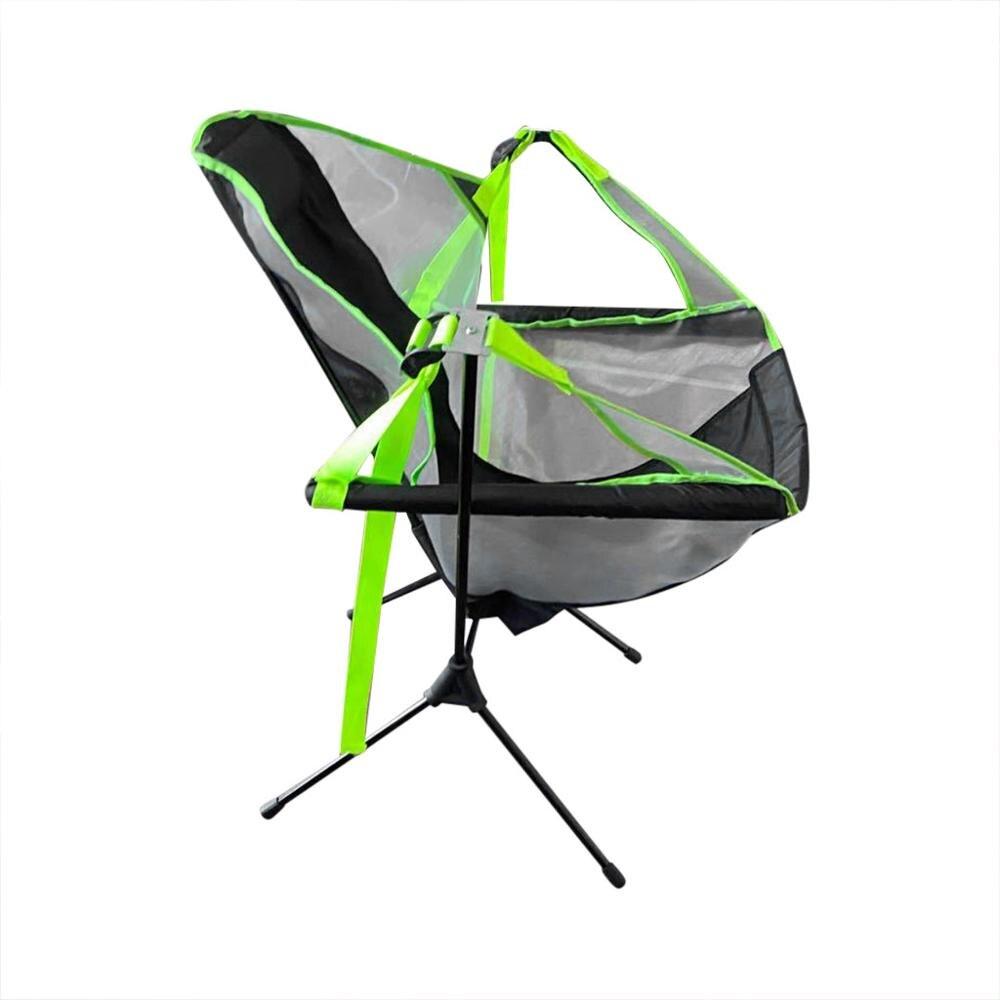 Portátil ao ar livre dobrável cadeira balanço cadeira reclinável ultraleve alta volta dobrável acampamento cadeira com encosto de cabeça ao ar livre mochila