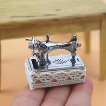 Maison de poupée Miniature 112 Mini Machine à coudre Simulation maison de poupée meubles filles tailleur jouet maison de poupée décoration accessoires