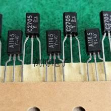 10 paires TOSHIBA 2SA1145 2SC2705 TO-92 Transistor A1145 C2705 Y amplificateur de puissance Audio A1145-Y C2705-Y bande blanche