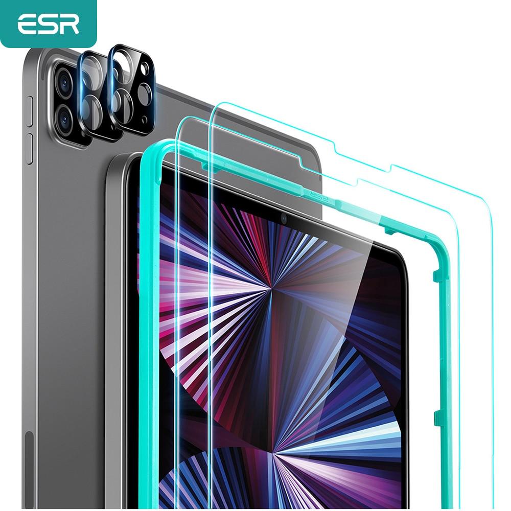 Комплект ESR защита для экрана камеры для iPad Pro 12,9, 2021 5-го поколения, iPad Pro 11 2021 2020, стеклянные пленки для iPad Pro 2021
