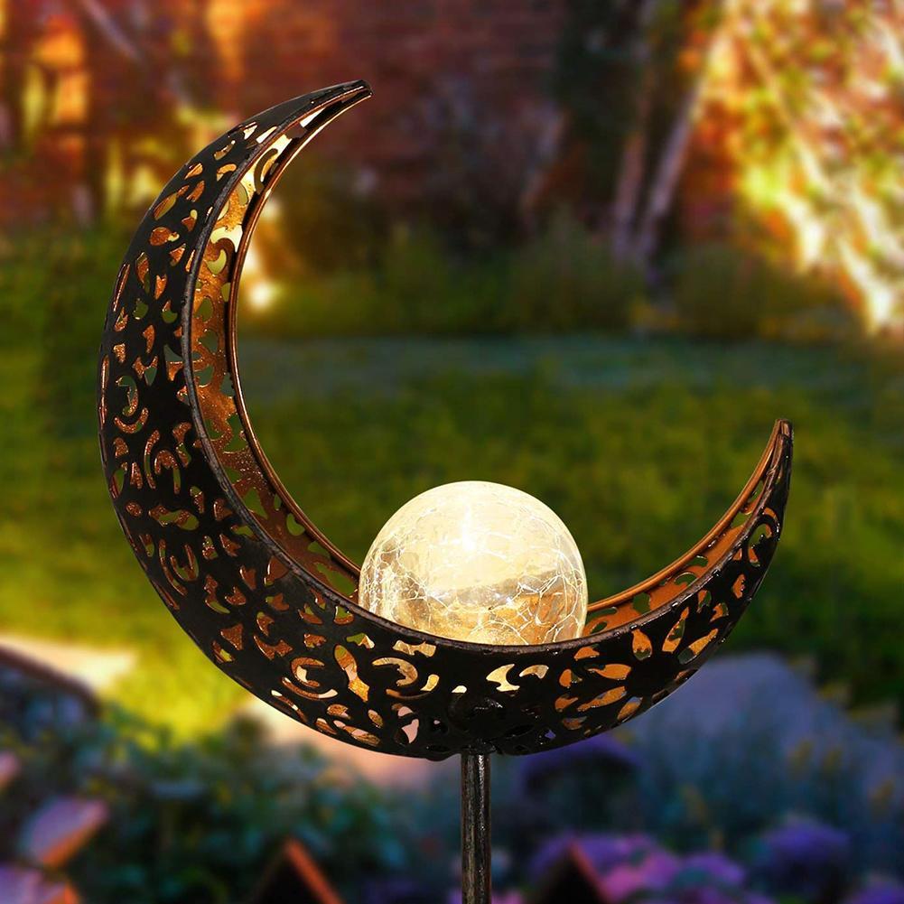Fashion Outdoor LED Solar Powered Mond Flamme Garten Hof Rasen Stake Licht Decor Lampe
