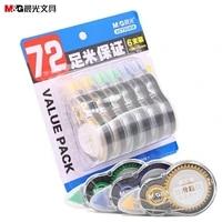 economical set 12m6pcs long correct belt correction tape corretiva papeleria stationery office school stationery supplies