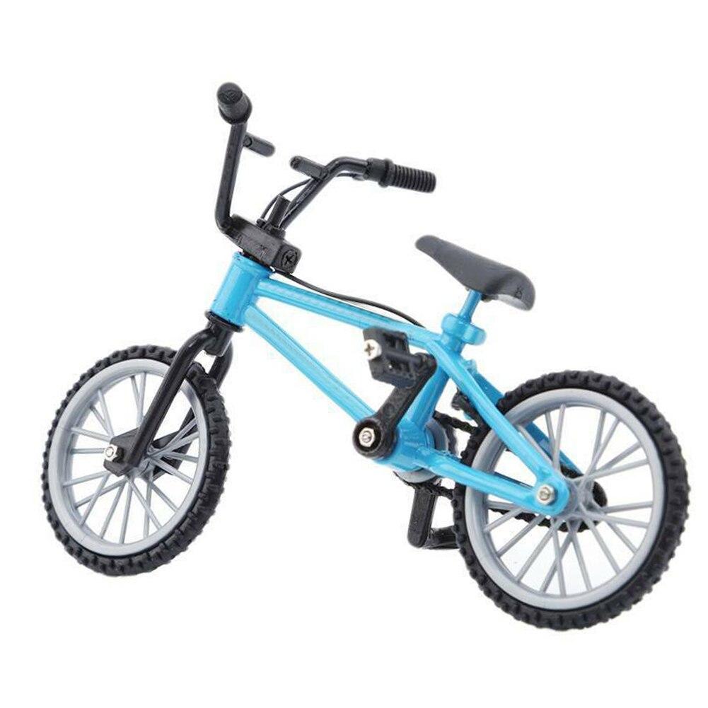 Mobiliário meninos crianças brinquedos adulto coleção mini modelo de bicicleta montanha bicicleta moda dedo bmx liga crianças presente 1/10