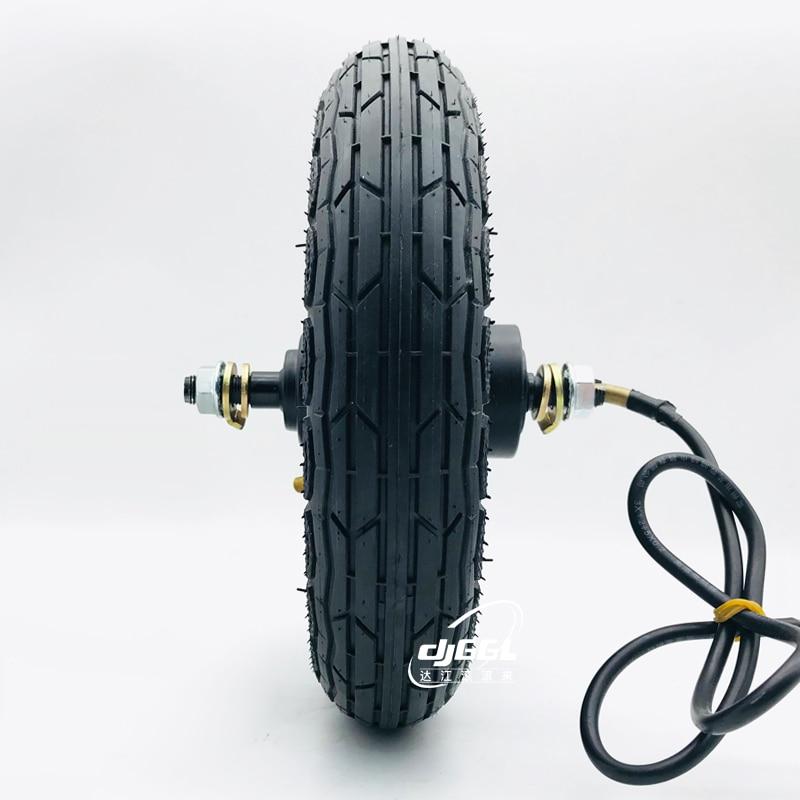 10 inch disc brake scooter electric motor wheel hub motor 48 v24v36v 10 inch skateboard with tires enlarge
