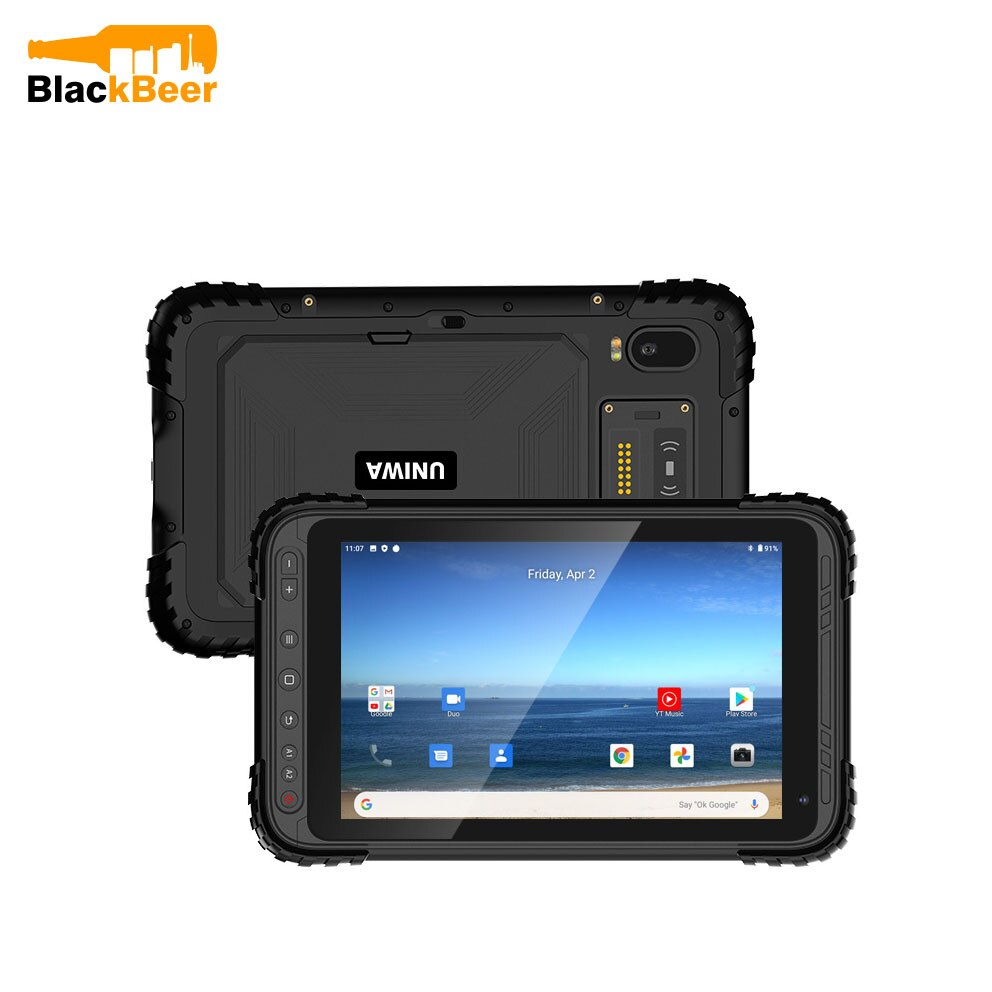 UNIWA P888 IP67 Rugged Waterproof 8 Inch Tablet PC Qualcomm Octa Core Industiral Android 10 Tablet Phone 32G/64G ROM 9000mAh NFC